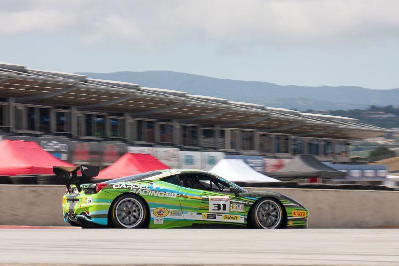Damon Ockey rounds turn 11 in the #31 Ferrari 458 EVO