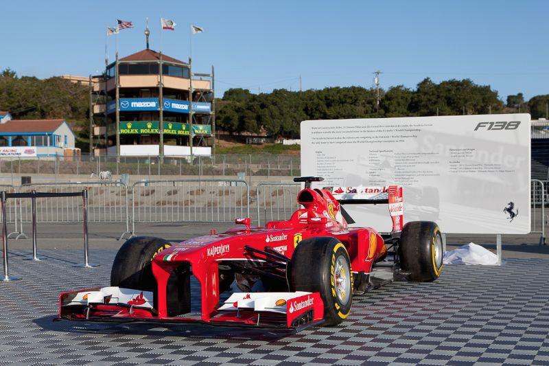 Formula 1 Ferrari F138 on display at Laguna Seca © 2014 Victor Varela