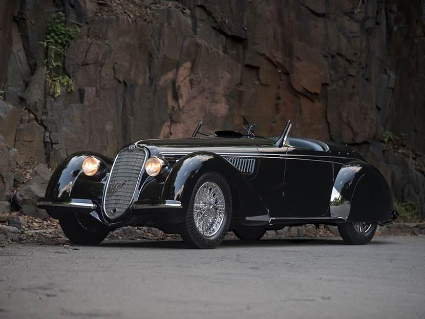 1939 Alfa Romeo 8C 2900B Lungo Touring Spider Sam Mann Collection