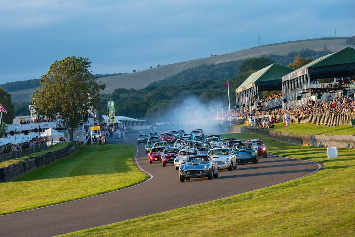 Start of the Kinrara Trophy race at the Goodwood Revival 2016