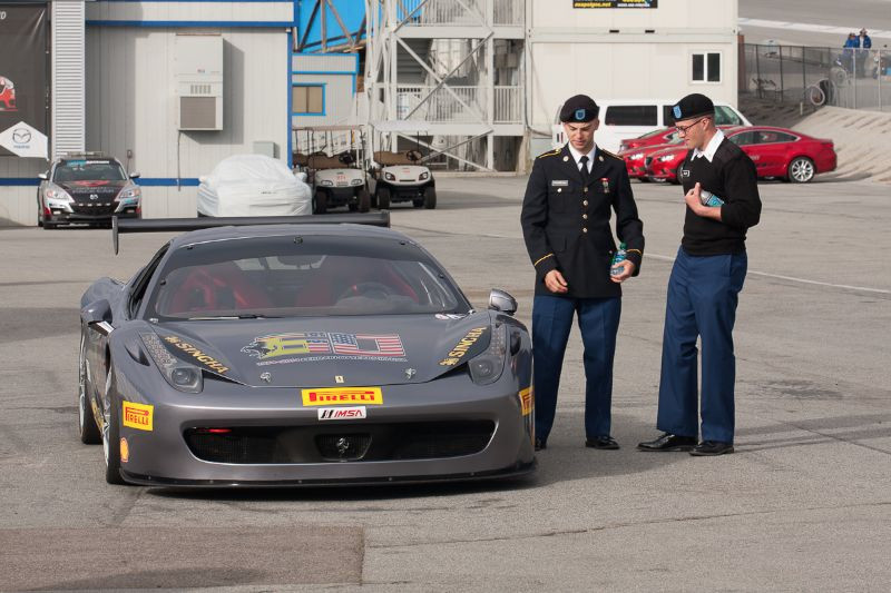 Cadets admiring the 458 Challenge EVO