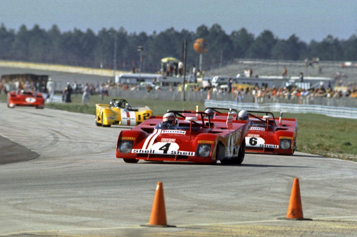 Ferrari 312 PB driven by Clay Regazzoni and Brian Redman finished 4th at the 1972 Daytona 6-Hours (photo: Autosports Marketing Assoc.)