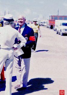 Sebring founder and promoter Alec Ulmann in paddock (Photo: Gene Bussian)