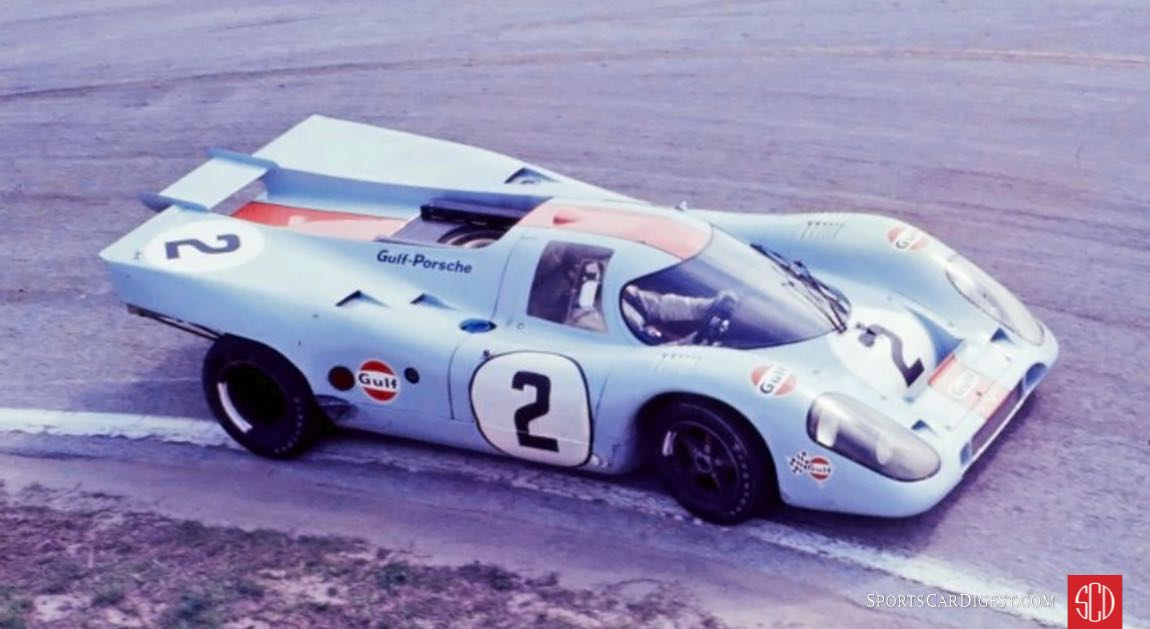 Gulf Porsche 917K of Pedro Rodriguez and Jackie Oliver (Photo: Ken Breslauer)