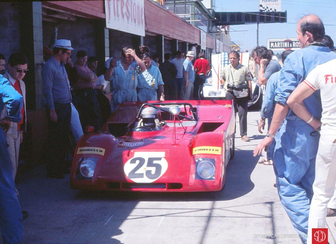 The factory Ferrari 312PB of Mario Andretti and Jacky Ickx (Photo: Gene Bussian)