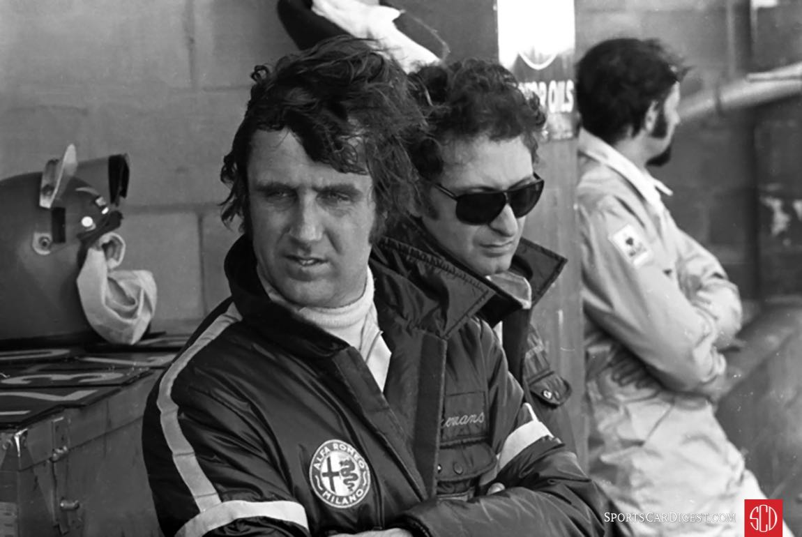 Toine Hezemans and Nino Vaccarella in the pits. Photo courtesy of www.autosportsltd.com
