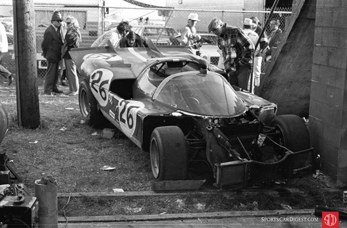 Too damaged to continue the car retired after only 20 laps (Photo: www.autosportsltd.com)