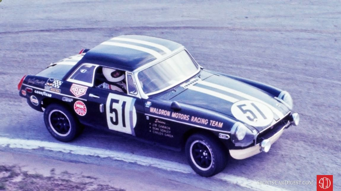 The MGB of Jim Gammon and Dean Donley retired early due to a blown engine (Photo: Ken Breslauer)