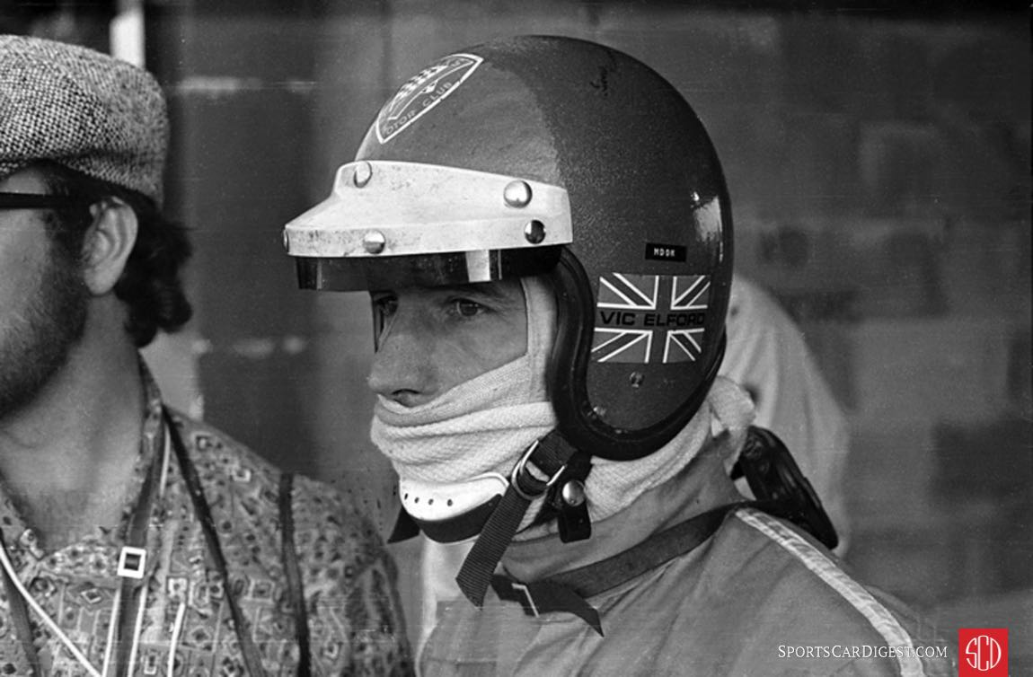 Vic Elford was always a bit tense right up until the last minutes of the race (Photo: www.autosportsltd.com)
