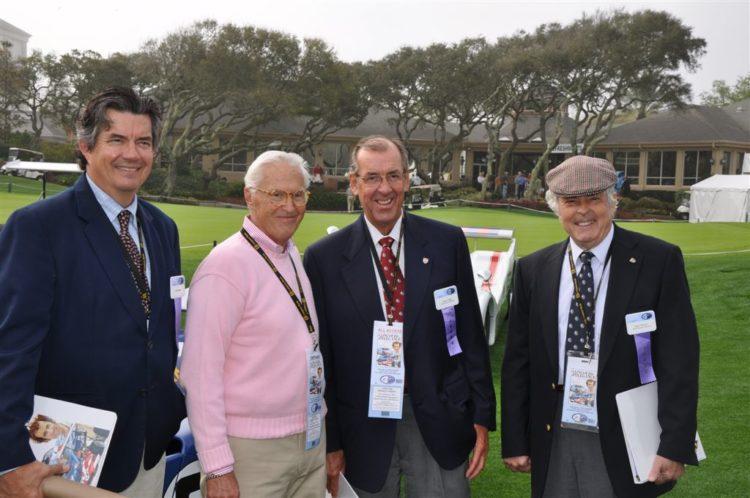 Bob Varsha, Kirk White, David Hobbs and Brian Redman
