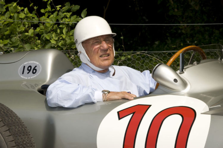 Sir Stirling Moss in the Mercedes-Benz W196