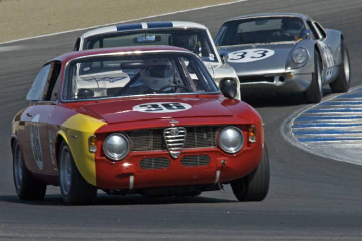1966 Alfa Romeo GTA - William Morris, 1966 Shelby GT 350 - Christi Edelbrock and 1964 Porsche 904/6 - Cameron Healy