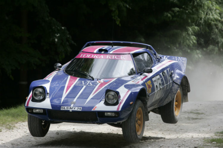 Lancia Rallye on the Forest Rally Stage