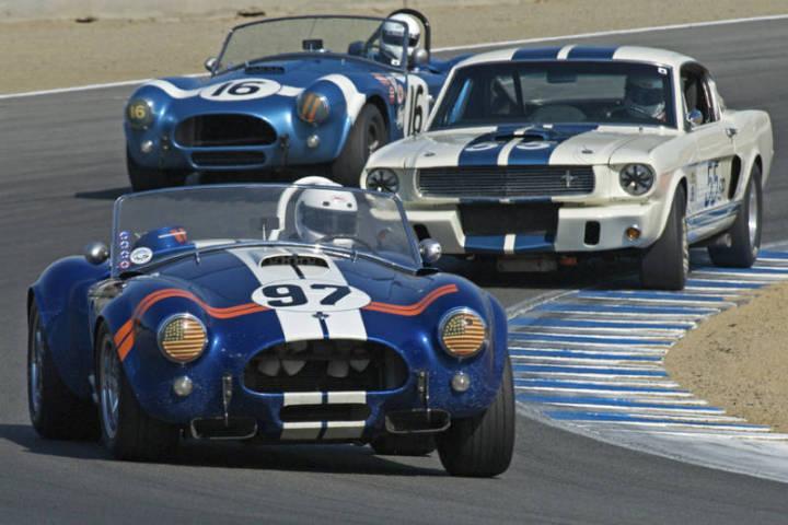 1962 Shelby Cobra 289 - Steve Park, 1966 Shelby GT 350 and 1964 Shelby Cobra
