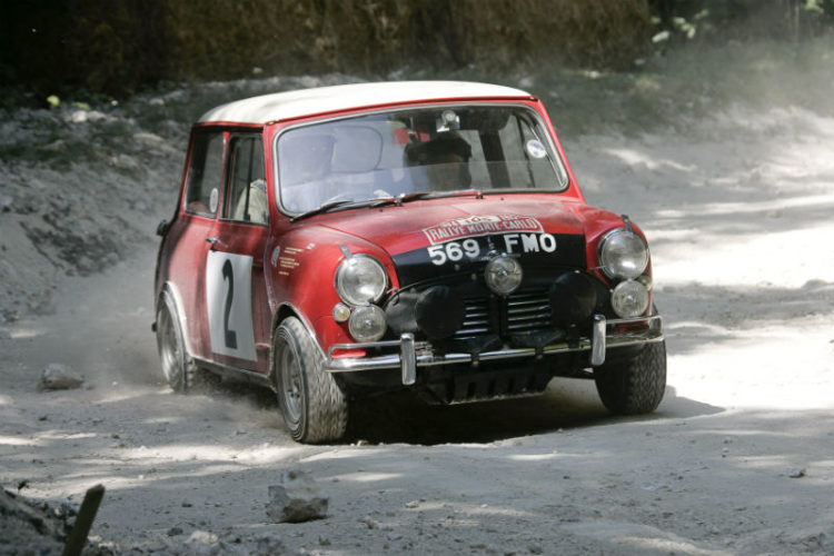Morris Mini Cooper on Forest Rally Stage
