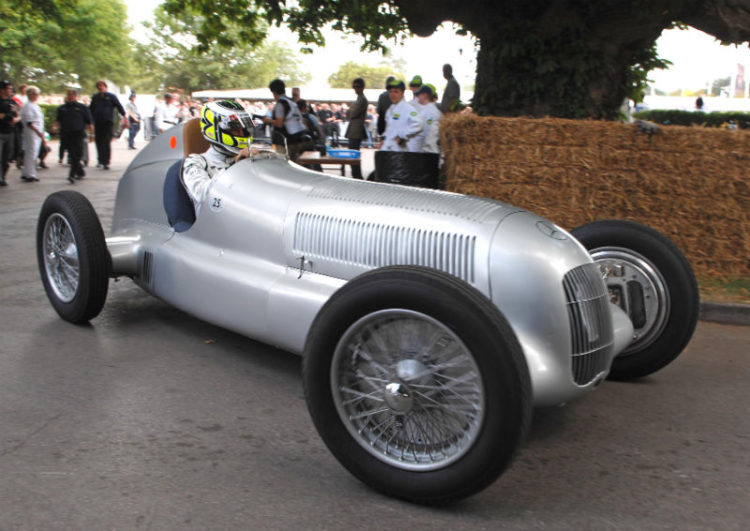 Jenson Button in the Mercedes Benz W25