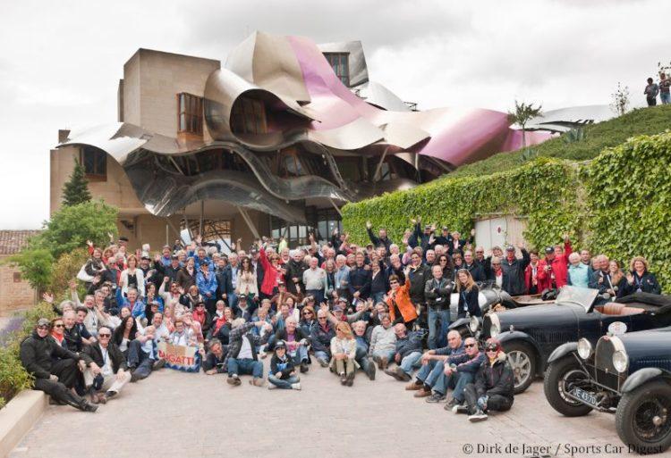 International Bugatti Meeting entrants at Rioja hotel