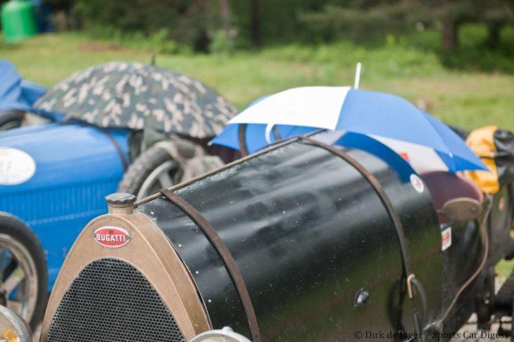 Rain covers at Bugatti Tour