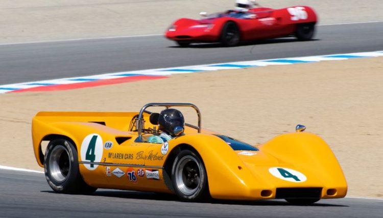 2011 Pre-Reunion, Saturday.  McLaren M6B in turn five.