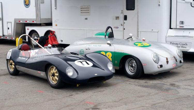 Yves Junne's Lola Mk1 and Yves Gold's Porsche 356.