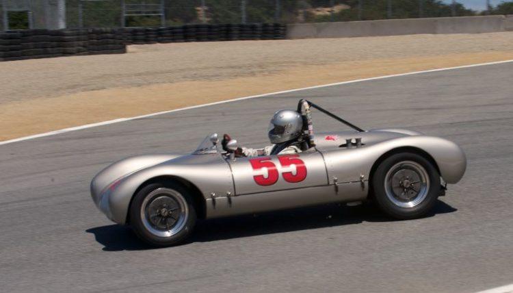Pre-Reunion Saturday. Cameron Healy, 1953 Cooper Porsche 'Pooper'.