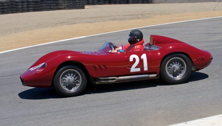 Pre-Reunion Saturday. Tom Price, 1957 Maserati 200SI.
