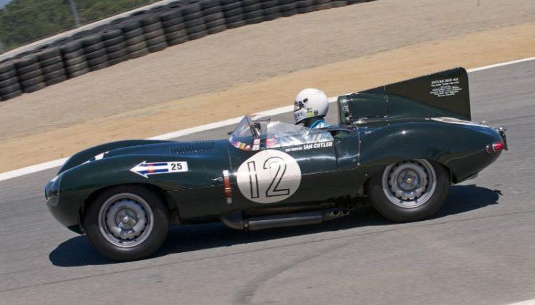 Dean Melling in his Jaguar D-Type.