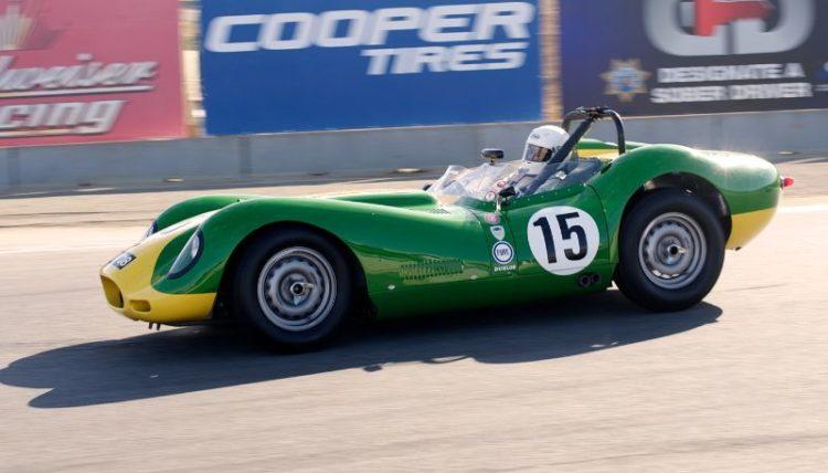 Brent Backman, Lister 'Knobbly' Jaguar in turn eleven.