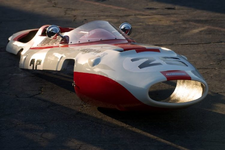 Early morning light sets this LeGrand nose alight. Charles McCabe's 1965 LeGrand M3B.
