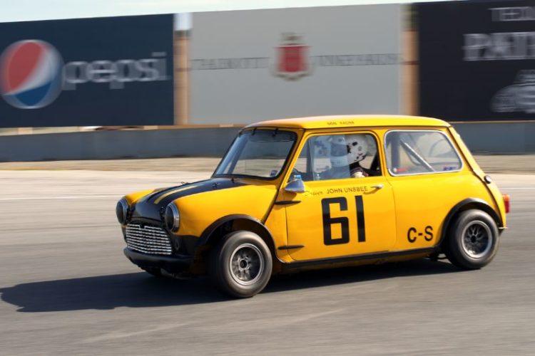 Don Racine's Austin Mini Cooper in eleven.