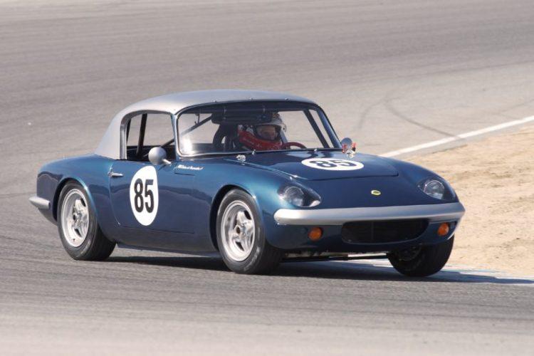 Dalmo De Vasconcelos in his 1965 Lotus Elan.