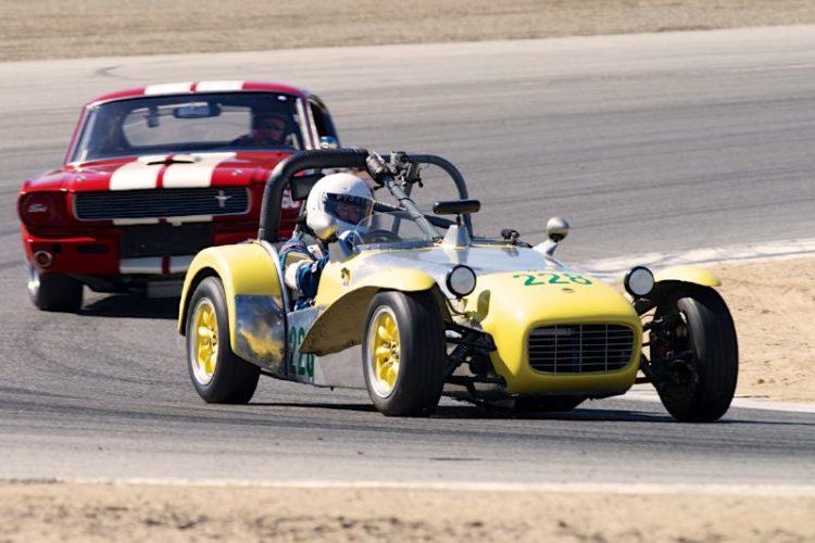John Mahall's 1964 Lotus Super Seven in two.