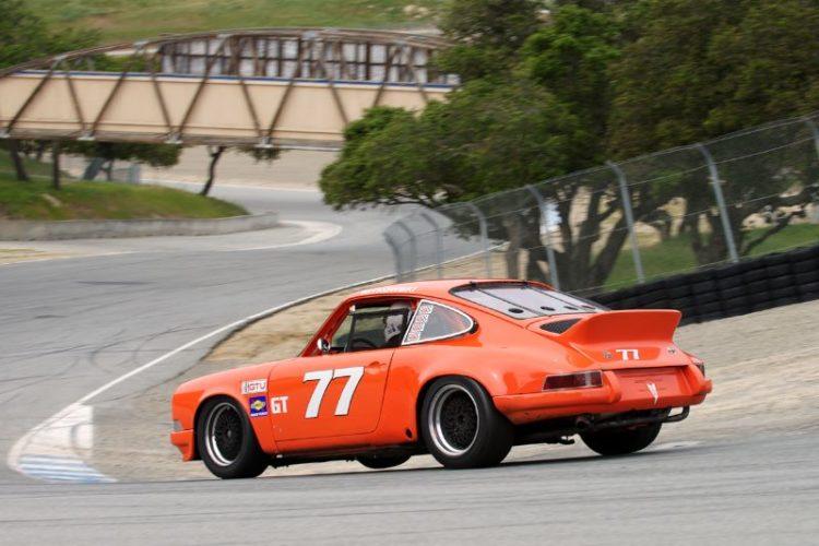 David Witkowski three wheels his 1973 Porsche 911 down the Corkscrew.