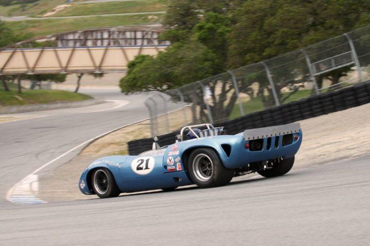 Nick Colonna's Lola T70 in The Corkscrew.