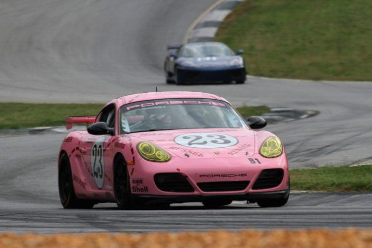 Lori Cassling's 09 Porsche Cayman S sports the famous 'Pink Pig' paint scheme.