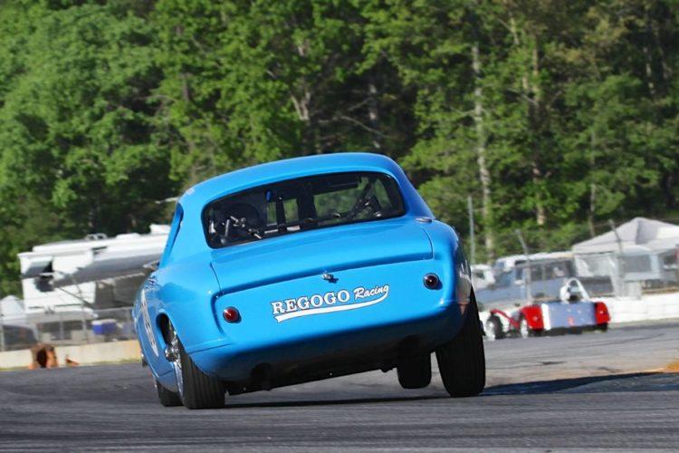 Nathan Thompson's 61 Lotus Elite does lean a lot.