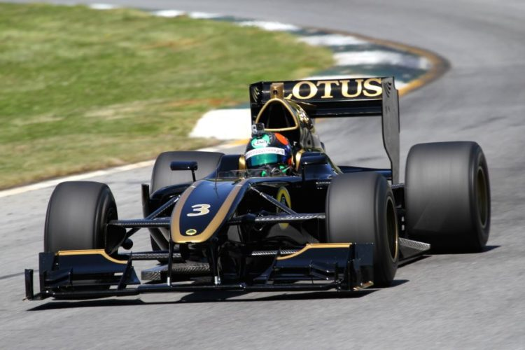 Gunnar Jeannette in Christian Zugel's 13 Lotus T125 Exos.