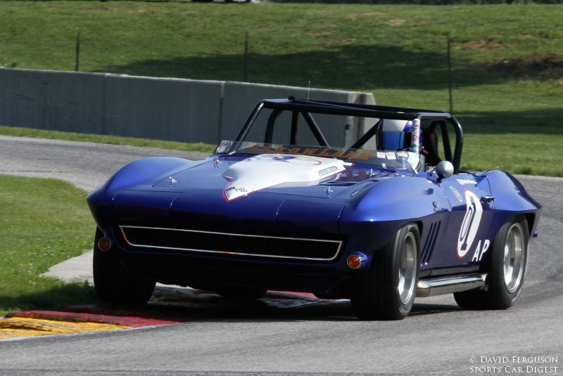 Chris Hines in his very fast 65 Corvette.