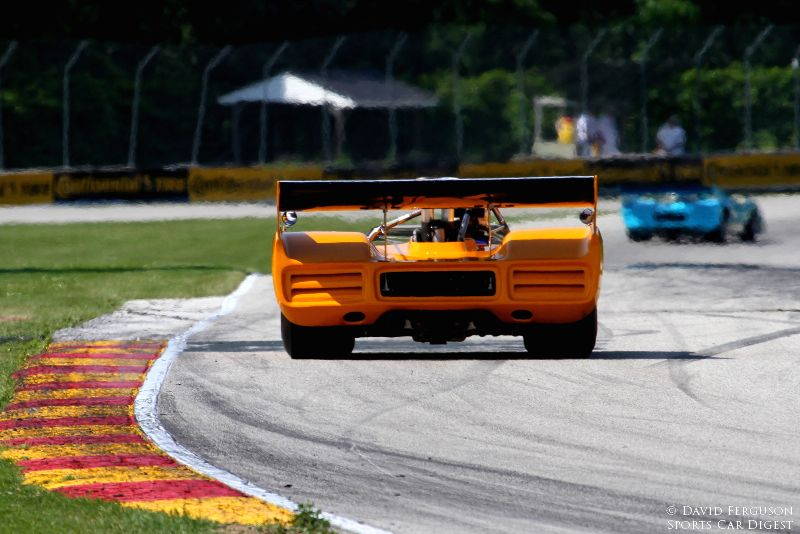 Chris MacAllister heading to the Kink in his McLaren M8F.
