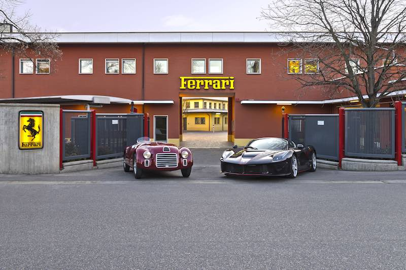 1947 Ferrari 125 S and 2017 Ferrari LaFerrari Aperta