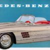 Mercedes-Benz 300 SL Roadster (W 198 II), 1957 to 1963. Drawing from the 1957 brochure.