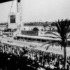 Victory at debut race: Hermann Lang (leading) won the 1937 Tripoli Grand Prix in the W 125