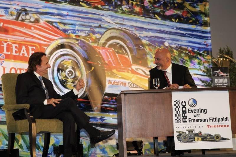 Emerson Fittipaldi and Bobby Rahal. Photo credit: Albert Wong