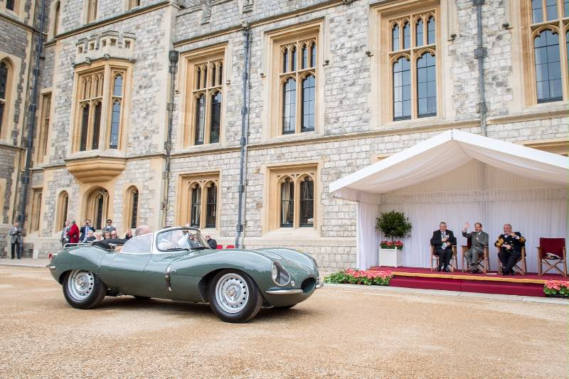 Jaguar XKSS Continuation passes the Earl of Wessex (photo: Chris Gage)