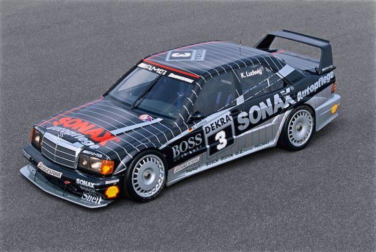 The DTM championship-winning vehicle of 1992: AMG-Mercedes 190 E 2.5-16 Evolution II racing tourer of Klaus Ludwig (start number 3).