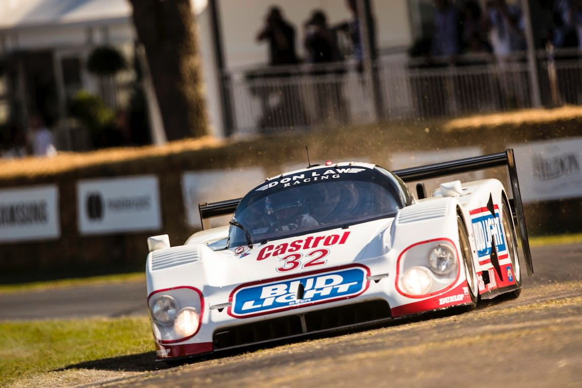 Justin Law in the winning Group C Jaguar - 2017 Goodwood Festival Of Speed, Photo: Drew Gibson.