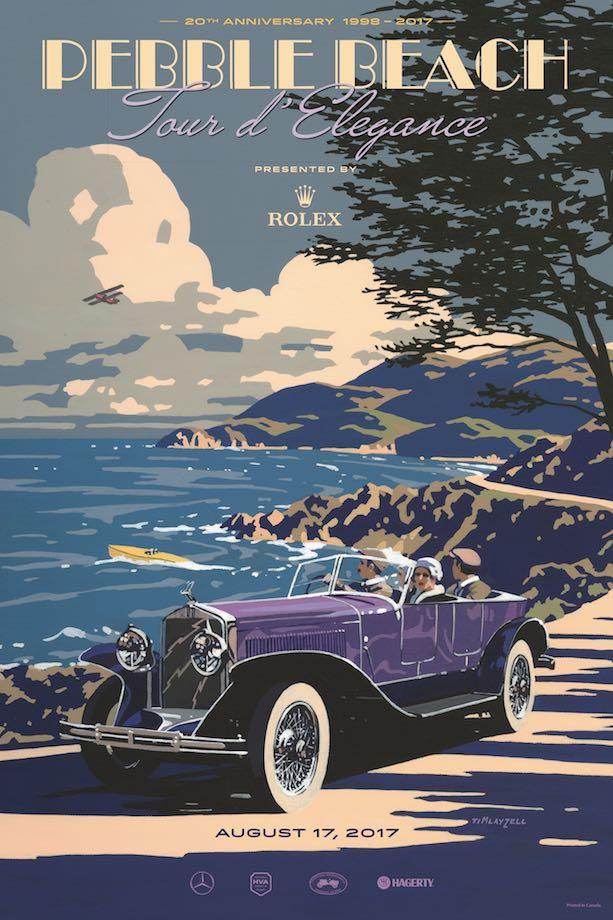 2017 Pebble Beach Tour Poster Art