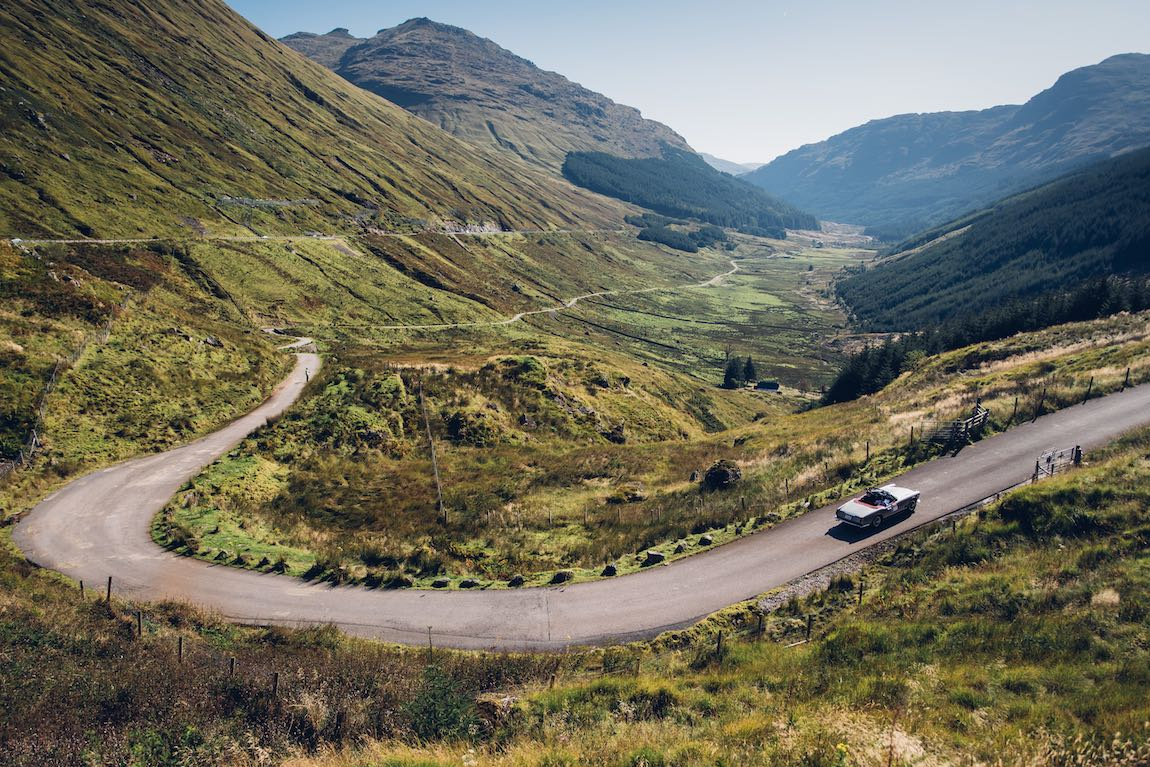 Maserati 3500 GT Spider on the Rest and Be Thankful Hill Climb