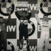 The Estoril Grand Prix Podium in 1985 (L-R) Michele Alboreto, Ayrton Senna, Patrick Tambay