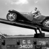 1932 Bugatti Type 55 being loaded onto the railcar